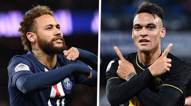 Neymar dan Lautaro Martinez